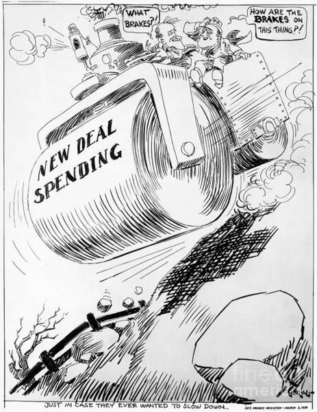 Photograph - Cartoon: New Deal, 1936 by Granger