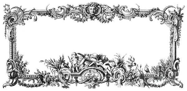 1755 Photograph - Cartouches, 1755 by Granger