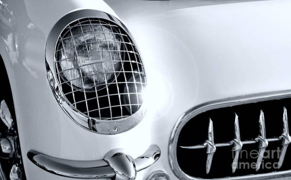 Photograph - Carvette Headlight by M K Miller