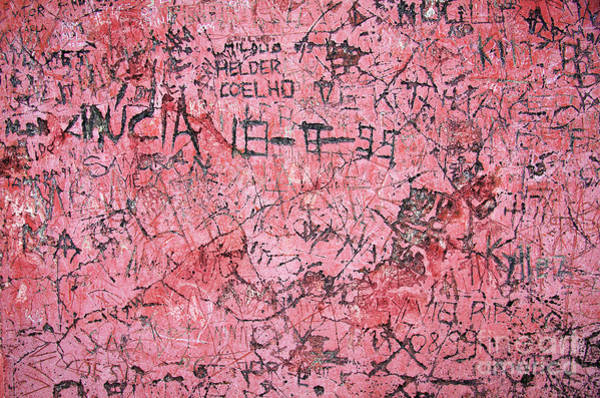 Saying Photograph - Carvings On Wall by Carlos Caetano
