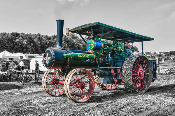 Photograph - Case Tractor by Guy Whiteley