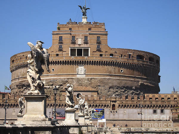 Wall Art - Photograph - Castel Saint Angelo On The River Tiber. Rome by Bernard Jaubert