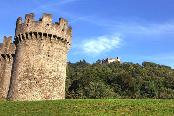Ticino Photograph - Castello Montebello And Sasso Corbaro In Bellinzona by Joana Kruse