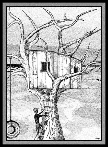 Phantasy Wall Art - Digital Art - Castle In The Tree - A Childhood Dream by Glenn McCarthy Art and Photography
