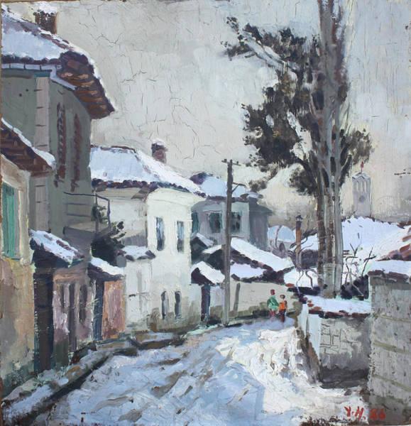 Elbasan Painting - Castle Neighborhood Elbasan by Ylli Haruni