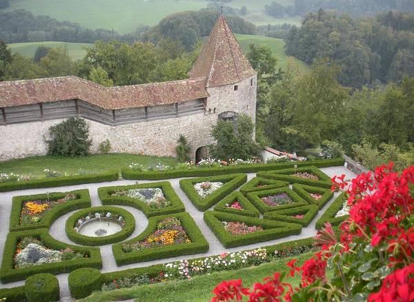 Castle Garden Photograph - Castle Of Gruyeres Switzerland by Marilyn Dunlap
