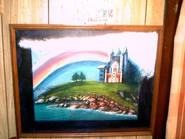 Priceless Painting - Castle With A Rainbow by Bryan  Klabunde