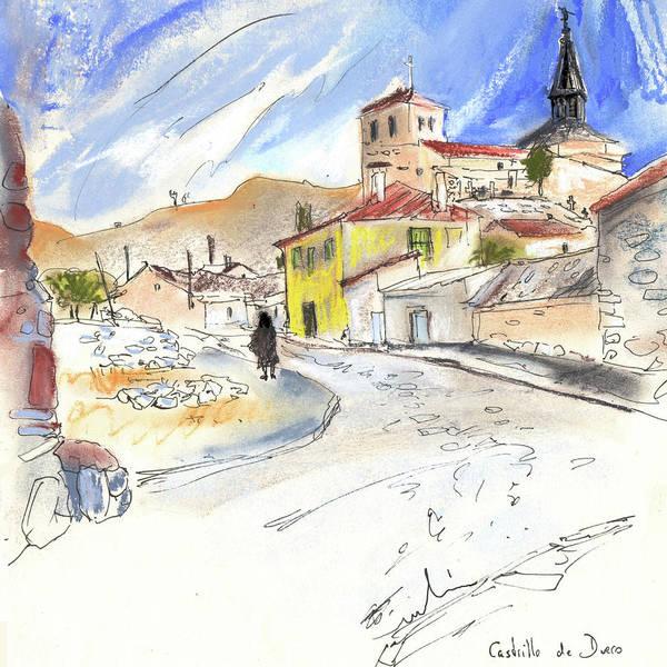 Ribera Del Duero Painting - Castrillo De Duero In Spain 01 by Miki De Goodaboom