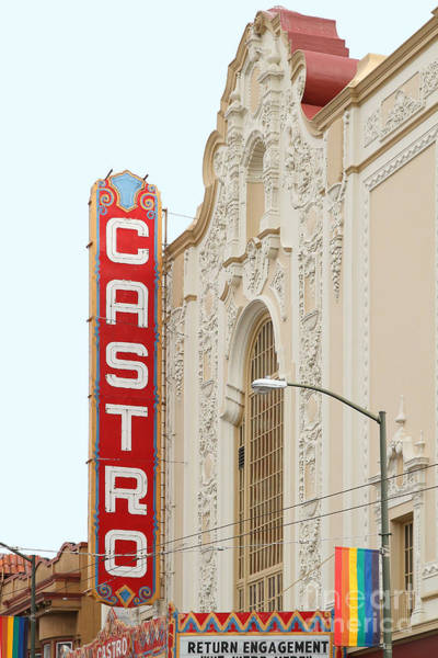 Transgender Photograph - Castro Theater In San Francisco . 7d7579 by Wingsdomain Art and Photography