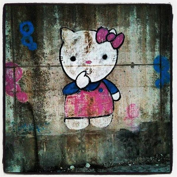 Cartoon Wall Art - Photograph - #cat, #baby, #cartoon, #graffiti by George sneyeper Vlachos