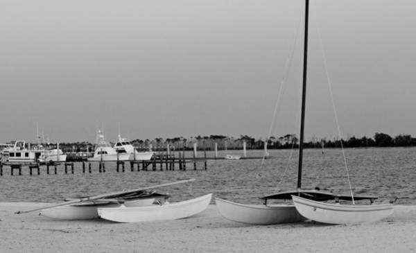 Photograph - Catamarans On The Beach by Barry Jones