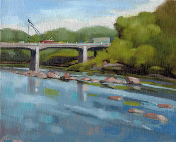 Traffic Painting - Catawaba River Study by Todd Baxter