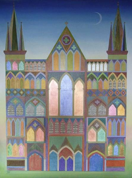Wall Art - Painting - Cathedral by Jennifer Baird
