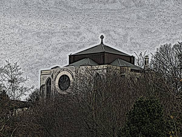 Capitol Digital Art - Cathedral On The Hill by Tim Allen