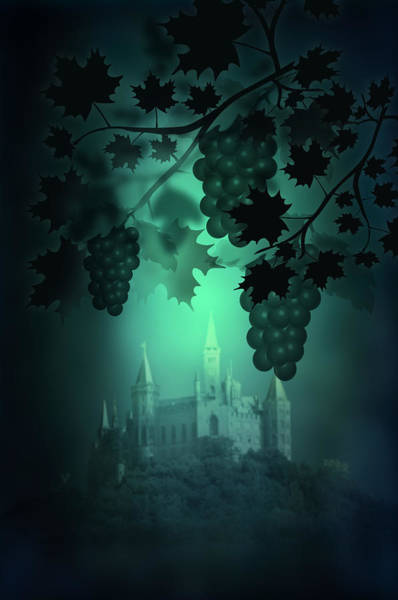 Victorian House Digital Art - Catle And Grapes by Svetlana Sewell