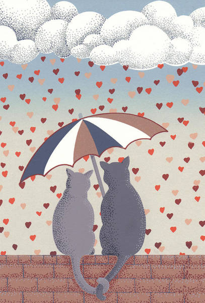 Relief - Cats In Love by Anne Gifford
