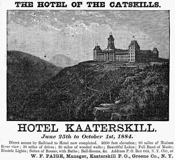 Catskills Photograph - Catskills Hotel, 1884 by Granger