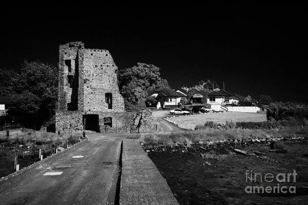 Wall Art - Photograph - Causeway Road To Sketrick Castle And Fast Eddies Pub And Restaurant Strangford Lough County Down by Joe Fox