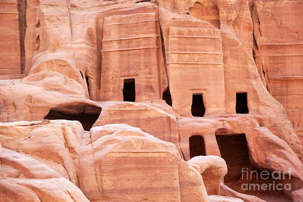 Desert Rose Photograph - Cave Dwellings Petra. by Jane Rix