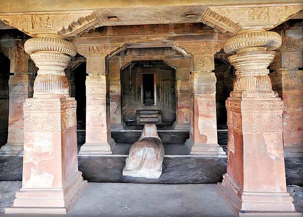 Photograph - Cave Temple -1  Badami by Mukul Banerjee Photography