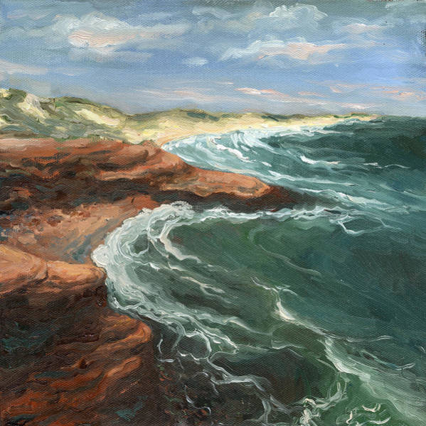 Prince Edward Island Painting - Cavendish Beach by Andreanne Macneill