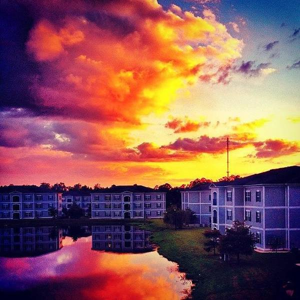 #ccu #sunset 🌇 Art Print