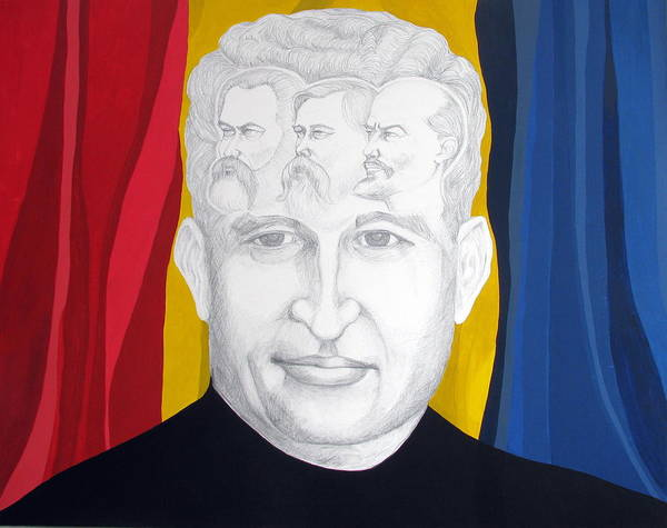 Ceausescu Wall Art - Painting - Ceausescu's Dream by Claudia French