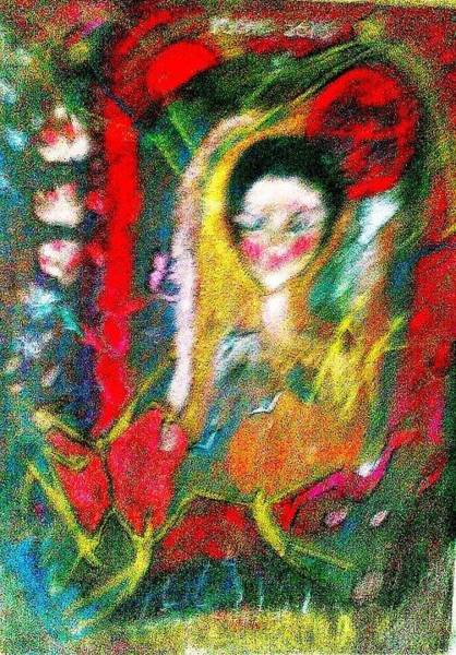Celebration Of Life.. Be..3 Art Print by Rooma Mehra