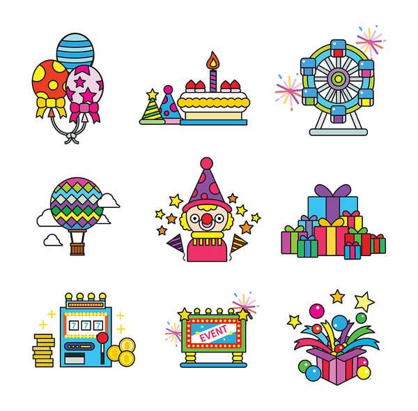 Balloon Festival Digital Art - Celebration Party by Eastnine Inc.