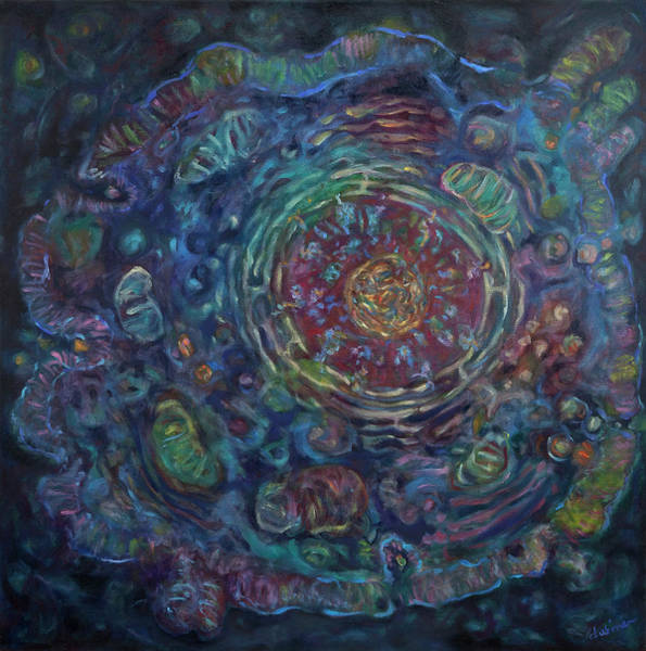 Painting - Cell by Shoshanah Dubiner