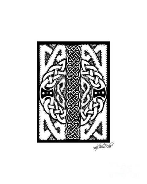 Drawing - Celtic Double Doors by Kristen Fox