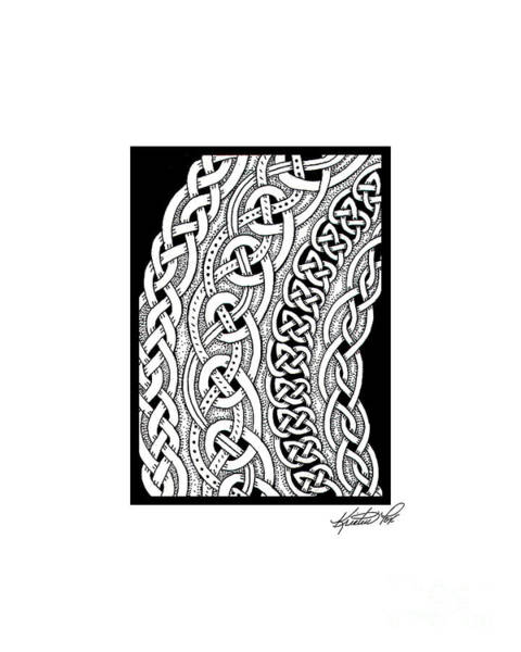 Drawing - Celtic Knotwork Curves by Kristen Fox
