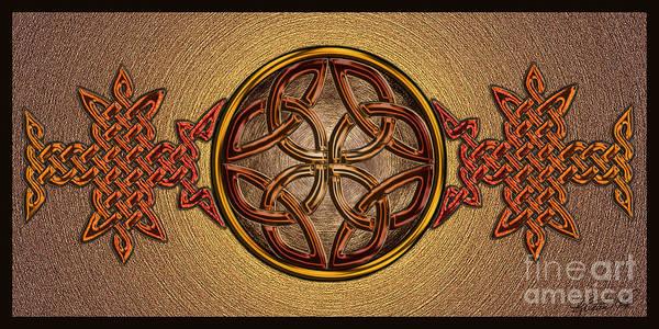 Mixed Media - Celtic Knotwork Enamel by Kristen Fox