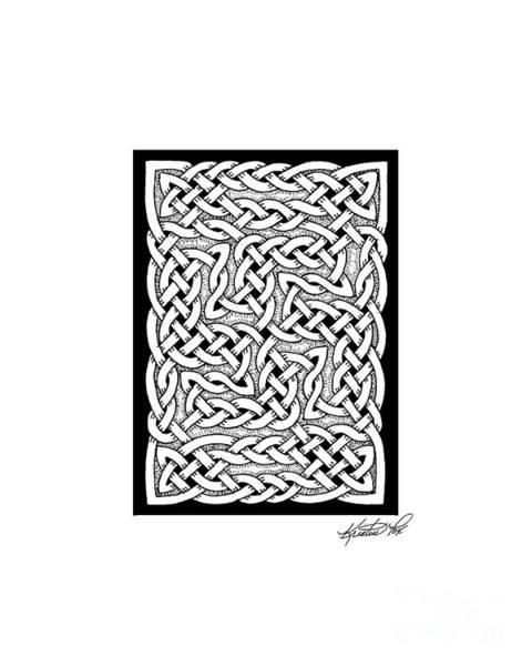 Drawing - Celtic Knotwork Pinwheel by Kristen Fox