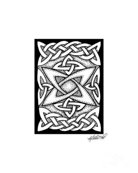 Drawing - Celtic Knotwork Quasar by Kristen Fox