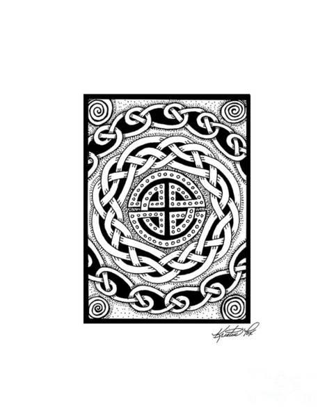 Drawing - Celtic Knotwork Rondelle by Kristen Fox