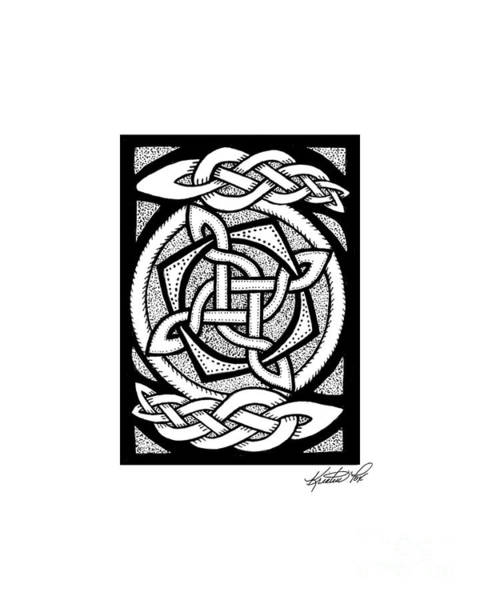 Drawing - Celtic Knotwork Rotation by Kristen Fox