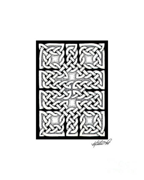 Drawing - Celtic Knotwork Ten Rooms by Kristen Fox