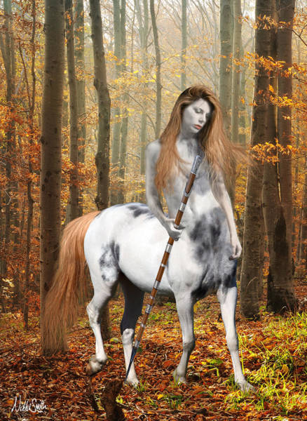 Digital Art - Centaur Series Autumn Walk by Nikki Marie Smith
