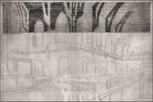 Drawing - Central Umc Interior 1965 by Glenn Bautista