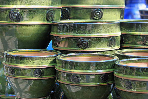 Garden Wall Art - Photograph - Ceramic Pots As Eye Candy by Suzanne Gaff