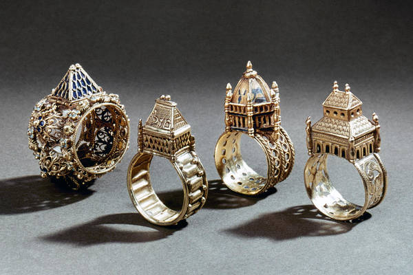 Photograph - Ceremonial Marriage Rings by Granger
