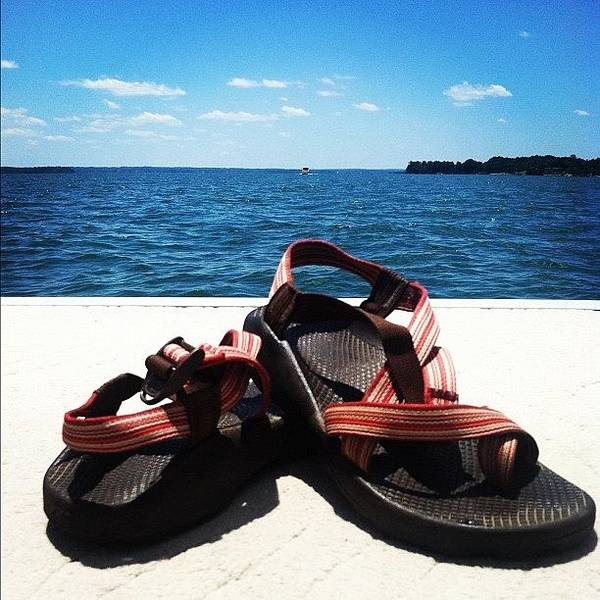 Wall Art - Photograph - Chacos On The Lake by Lea Ward