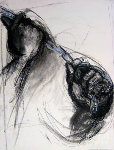 Art Print featuring the drawing Chain by Gabrielle Wilson-Sealy