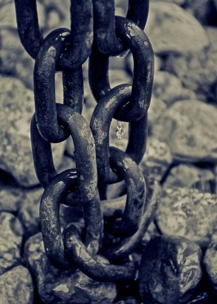 Chain Link Photograph - Chain Of Blues by Odd Jeppesen