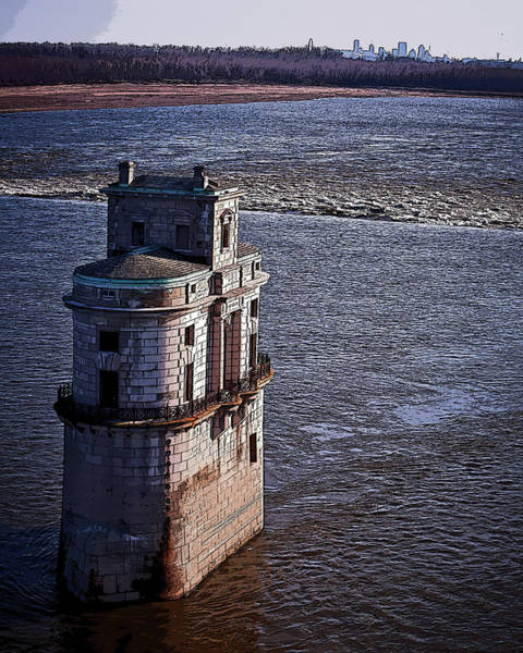 Photograph - Chain Of Rocks East Water Tower by David Coblitz