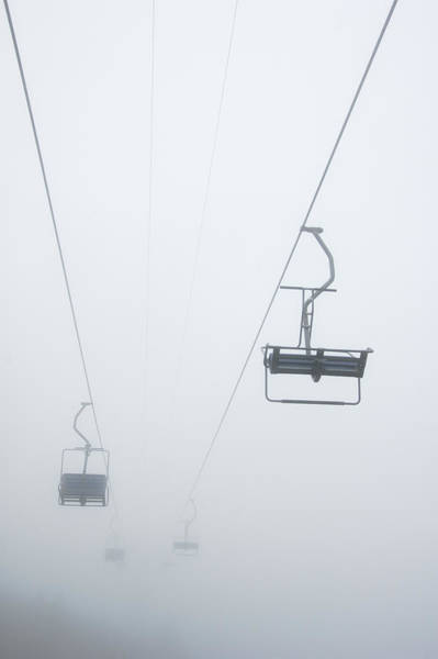 Photograph - Chairlift In The Fog by Matthias Hauser