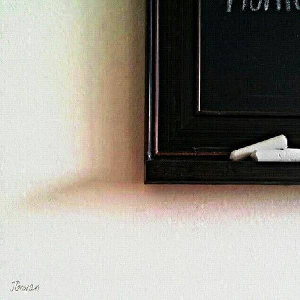 Minimalism Photograph - Chalkboard. #chalkboard #chalk #shadow by Jess Gowan