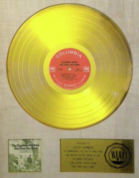 Chambers Brothers Gold Record Art Print