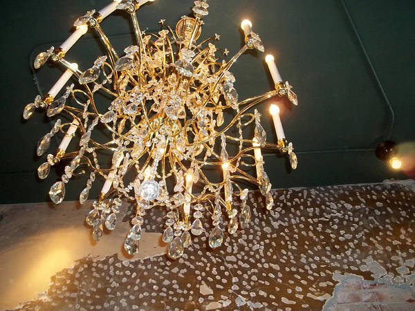 Photograph - Chandelier Above by Anne Cameron Cutri